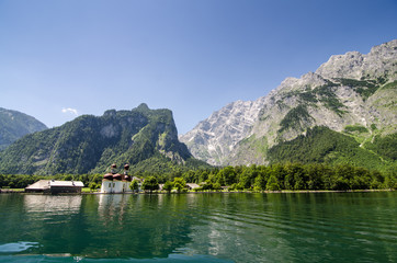view from the koenigssee to the watzmann