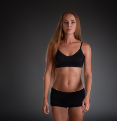 Fitness woman in training