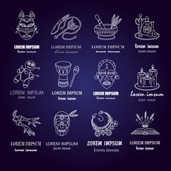 Voodoo African and American magic vector logo
