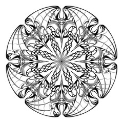 Hallaween circular ornament with bats