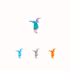 Penguin logo, colorful vector
