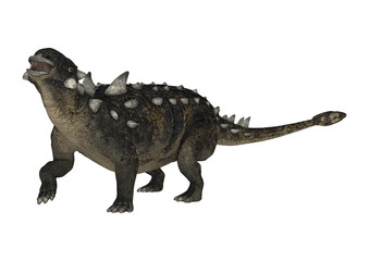 3D Rendering Dinosaur Euoplocephalus on White