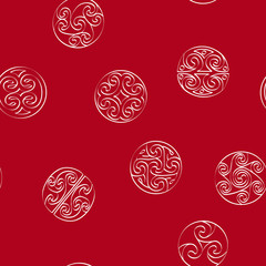 Seamless pattern with irish geometric ornament for your design