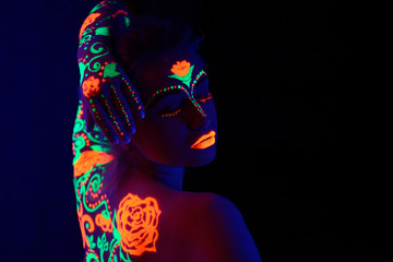 girl neon light