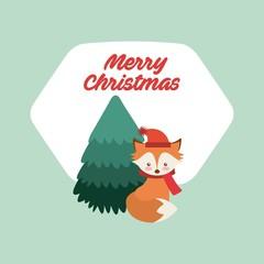 merry christmas animal character vector illustration, eps10