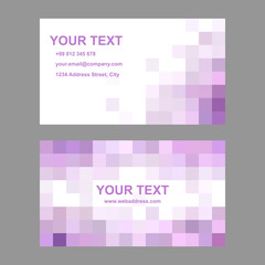 Pink abstract business card template design