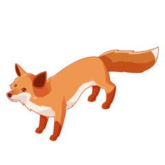 Isometric fox icon
