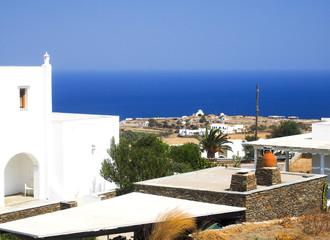 Greek Island Sifnos view  Aegean Mediterranean Sea with typical