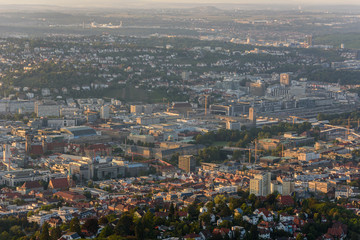 Center of Stuttgart City in Germany - beautiful historical city
