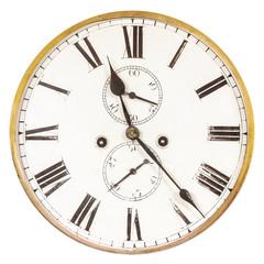 Vintage weathered ancient clock