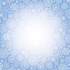Snowflakes  pattern background.Winter backdrop