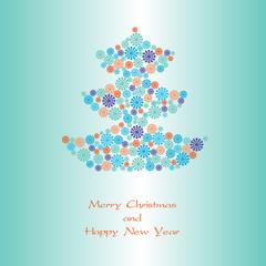 Vector illustration Christmas tree