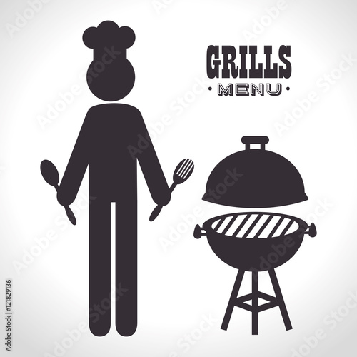 bbq grill silhouette vector free wwwimgkidcom the