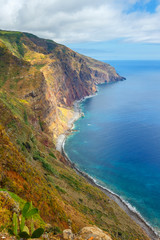 majestic view of the cliffs, Madeira, Portugal