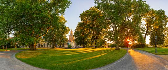 Dresden Brühlschen Garten Sonnenuntergang