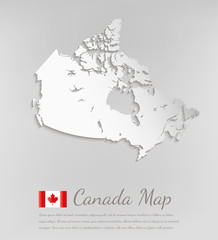 Canada map. 3D vector map with smooth shadow