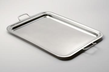 Classic rectangular tray metal