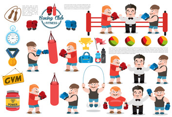 Boxing club infographic