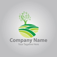 green farm logo vector