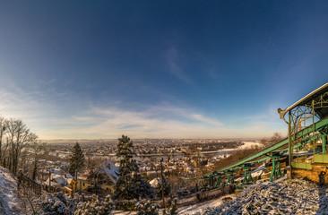 Dresden Standseilbahn Winter