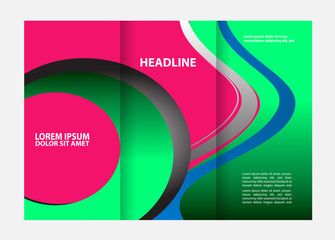 Green brochure tri fold template