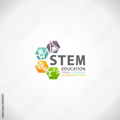 "Science Technology Engineering And Math Education For: ""STEM Education Concept Logo. Science Technology"
