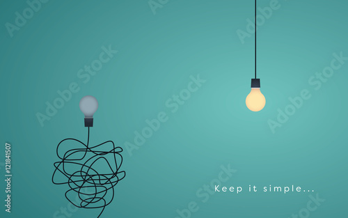 keep it simple business concept for marketing creativity project