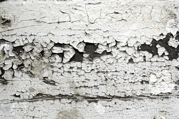 texture of cracked paint, white