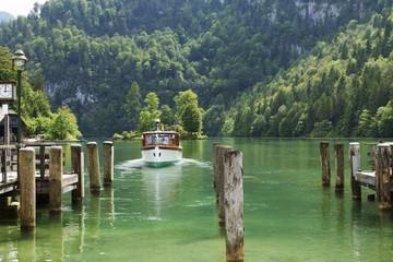 Lake Konigsee in Bavarian Alps.