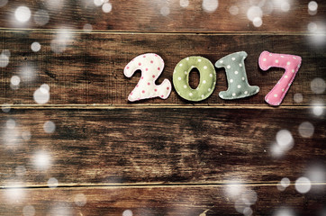 New year theme decoration figures of 2017