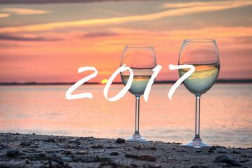 Fototapete - Strand Urlaub 2017