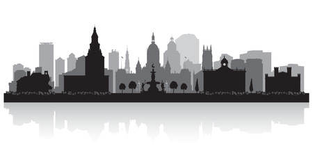 Hartford Connecticut city skyline silhouette