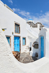 Blue and white Santorini