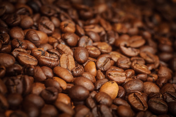 Closeup of brown coffee background