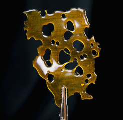 Slab of shatter isolated