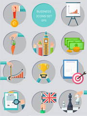 Business color icons set.  Idea, specific, measurable, achievable