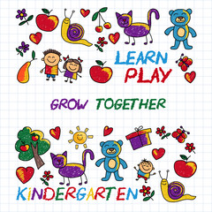 Play Learn and grow together Vector image