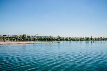 La pointe de la Confluence du Rhône et de la Saône à Lyon