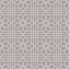 Traditional Arabic seamless ornament. Geometric pattern seamless for your design.  Desktop wallpaper, interior decoration, graphic design. Background. Vector