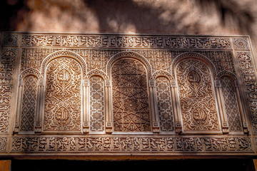 Moroccan architecture traditional design, Marrakesh