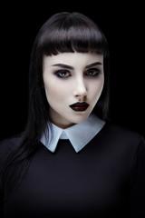 Gothic brunette girl