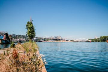 Les bords du Rhône vers la confluence du côté de la Mulatière à Lyon