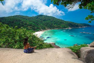Phang Nga, Thailand-Mar 15, 2013 : clear water beautiful sea lik