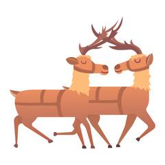 Cartoon deer vector animal