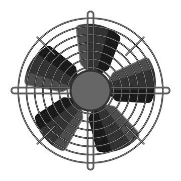 Propeller fan vector illustration.