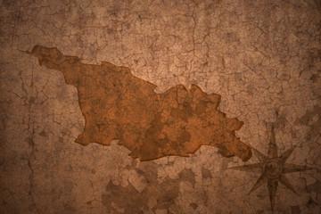 georgia map on vintage crack paper background