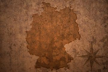 germany map on vintage crack paper background
