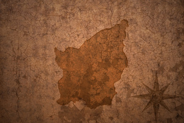 san marino map on vintage crack paper background