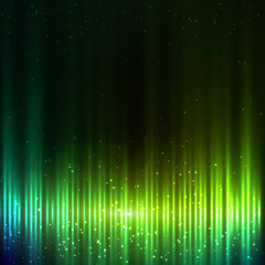 Green shining bright equalizer vector abstract background