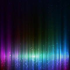 Blue shining equalizer techno vector abstract background